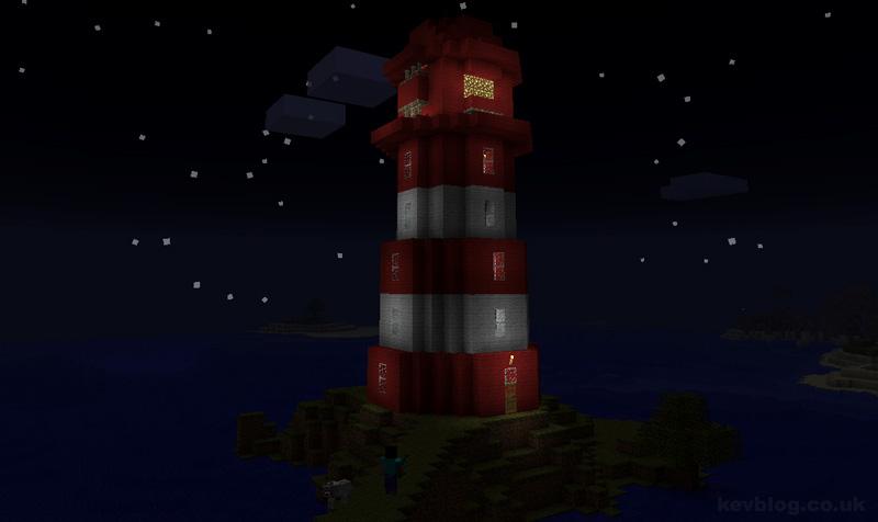 Minecraft Piston Lighthouse